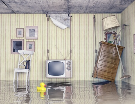 budget sewer flooded home