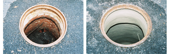 budget sewer manhole rehabilitation before and after