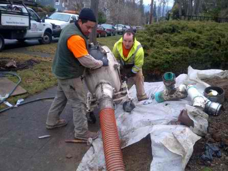 budget sewer workers pipe relining