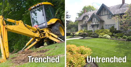budget sewer differences between trenched and untrenched sewer repair