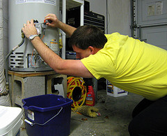 budget sewer re-lighting water heater